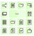 file icons vector image vector image