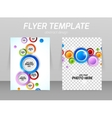 Flyer back and front design template vector image vector image