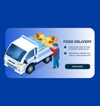 food delivery store website page template vector image