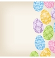 Frame with Easter Eggs vector image vector image