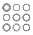 greek round frames ancient circular mediterranean vector image