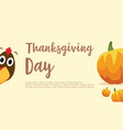 greeting card thanksgiving day collection vector image vector image