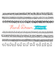 hand - drawn borders collection of simple hand vector image vector image