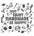 Happy handmade black and white card vector image vector image