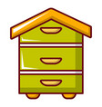 hive for bees icon cartoon style vector image vector image