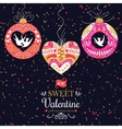 Holiday and Valentines Day hand drawing greeting vector image vector image