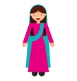 islam woman character isolated icon vector image vector image