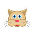 isolated cute cat avatar vector image vector image
