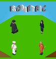 isometric person set of cleaner detective vector image vector image