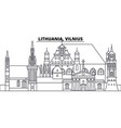 lithuania vilnius line skyline vector image vector image