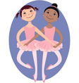 Little ballerinas vector image