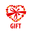 logo gift in the form of heart vector image