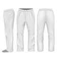 Men sweatpants white vector image vector image