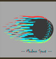 modern style baseball background with vector image vector image