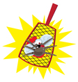 mosquito flyswatter vector image