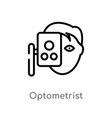 outline optometrist icon isolated black simple vector image vector image