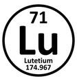 periodic table element lutetium icon vector image vector image