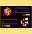 pizza restaurant promotional internet pages set vector image vector image