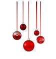 red balls set vector image vector image