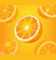 refreshing orange background realistic vector image vector image