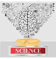 science think outside box vector image