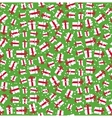 Seamless Bright Fun Christmas Winter Pattern with vector image vector image