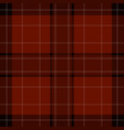 seamless red brown black tartan - white stripes vector image vector image