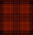 seamless red brown black tartan - white stripes vector image