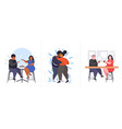set fat obese people in different poses overweight vector image vector image
