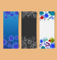 set of banners with viruses and microbes vector image vector image
