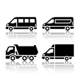 set transport icons - freight transport vector image