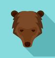 siberian bear head icon flat style vector image