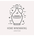 Simple Logo Template Wine Making vector image vector image