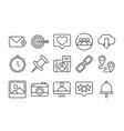 social media digital internet network communicate vector image vector image