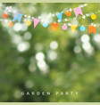 Spring or summer greeting card invitation string