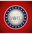 Stars and button of vote concept vector image vector image