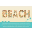 Summer Beach Concept vector image