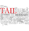 tail word cloud concept vector image vector image