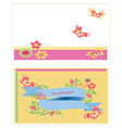 template card with flowers vector image vector image