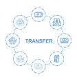 transfer icons vector image vector image