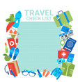 travel check list template background vector image vector image