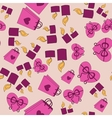 Valentine Day pink pattern with pink background vector image vector image
