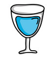 wine cup glass isolated icon vector image
