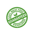 100 meat free stamp vegetarian food icon vector image