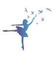 Ballet dancer isolated on white background vector image
