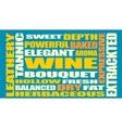 Drink alcohol beverage Wine relative words cloud vector image
