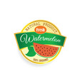 label of fruit watermelon in colorful vector image