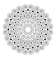 black white round mandala with spirals vector image