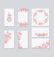 colorful greeting wedding invitation card vector image