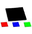 3d map of colorado vector image vector image